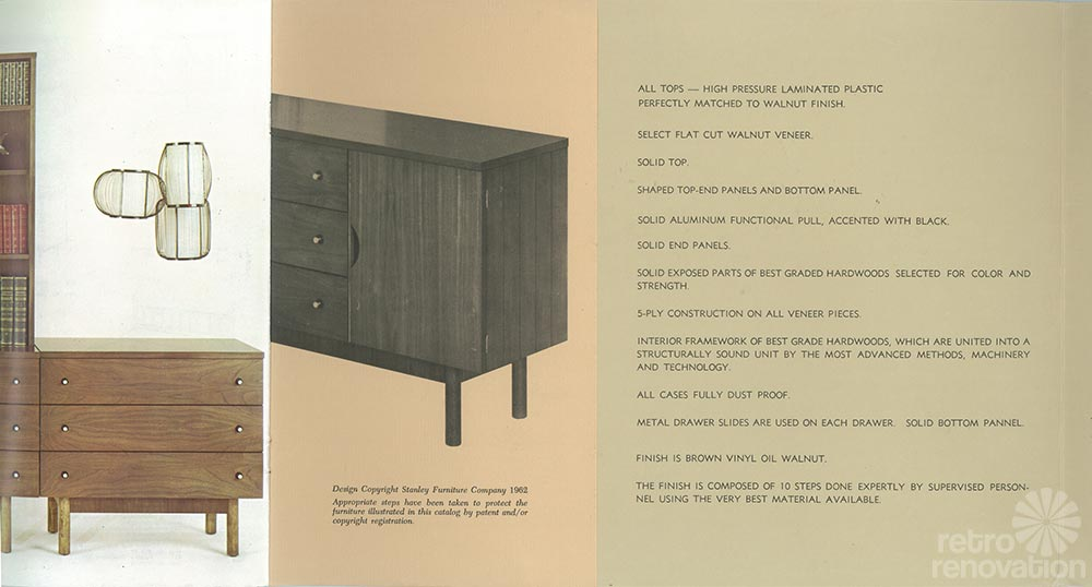 Vintage Stanley Furniture Specs