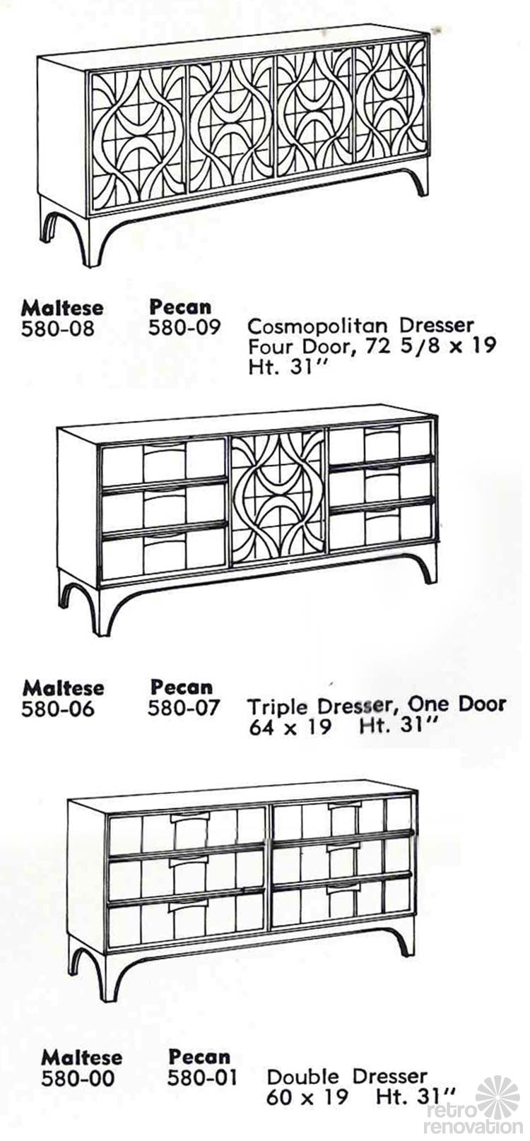 Vintage Stanley Furniture Dressers Theme