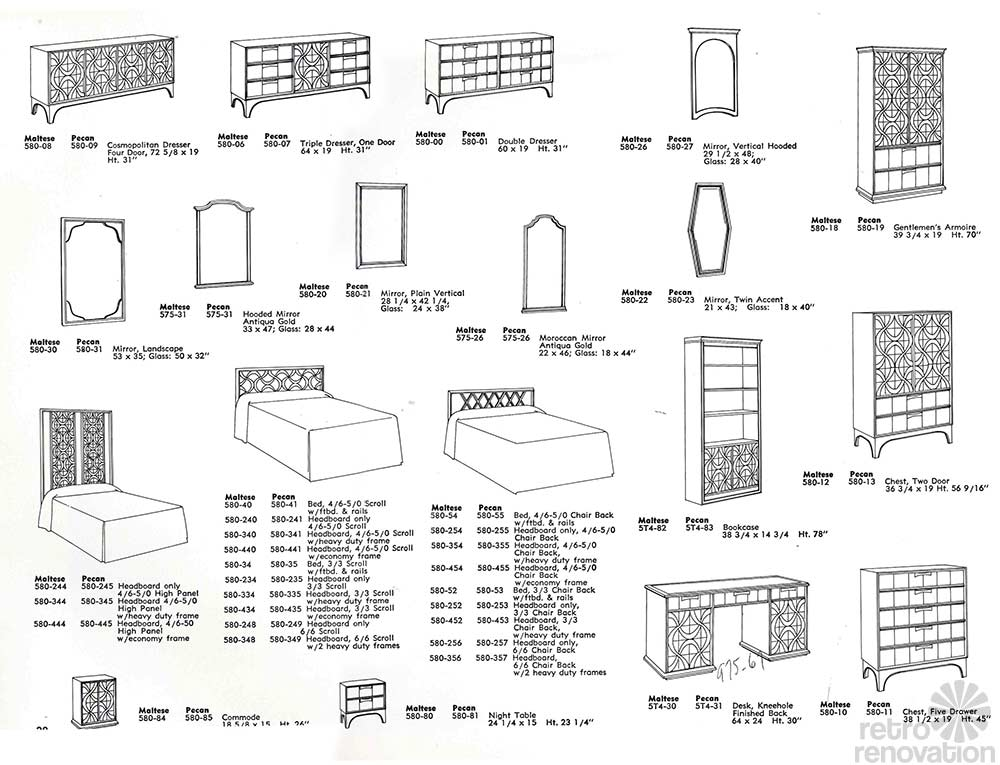 Vintage Stanley Furniture Theme II line - 10 page catalog from the ...