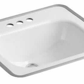 kohler tahoe bathroom sink for a mid century modern bathroom
