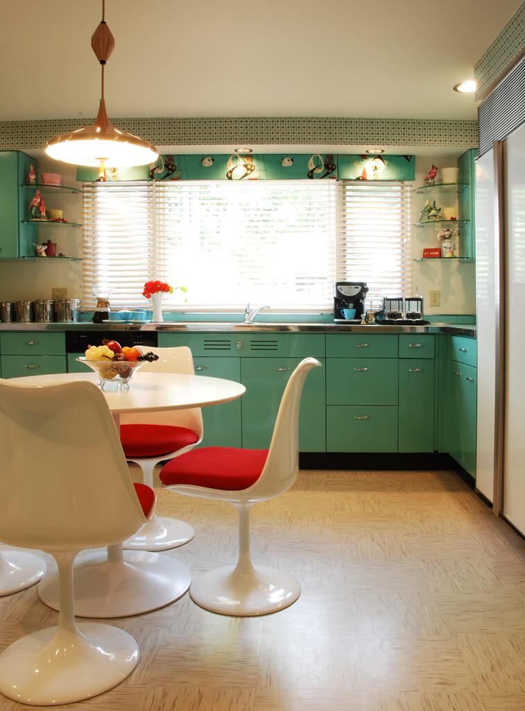 Blue Kitchen Retro Renovation