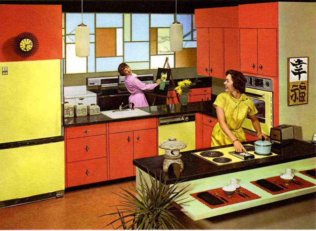 Retro kitchen paint colors from 50s to early 60s geneva for 60s kitchen ideas
