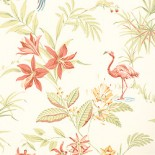 Flamingo's and hula girls for your perky retro bathroom – from Thibaut