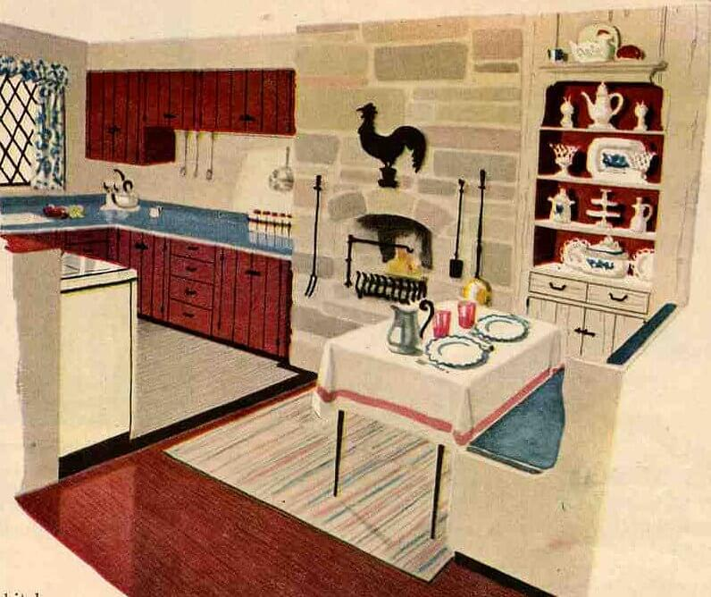 Kitchen Cabinets Look Like Furniture: 50s Or 60s Kitchen Cabinets
