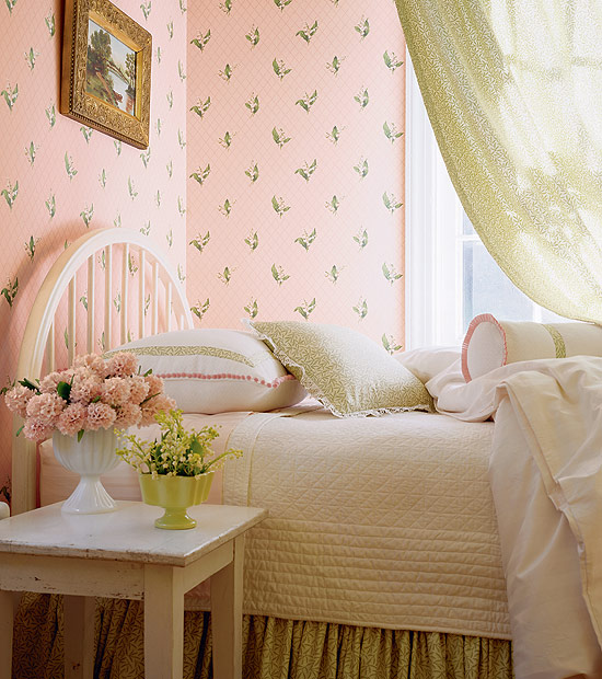 Wonderful vintage style wallpaper for a 40s 50s or 60s for Vintage bedroom wallpaper