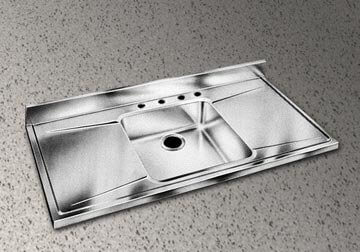 Stainless Steel Sink Counter Drainboard Combos Are Classic 40s