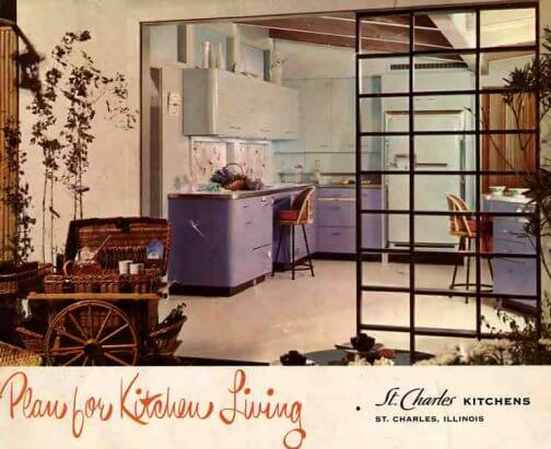 st charles purple and blue kitchen vintage design
