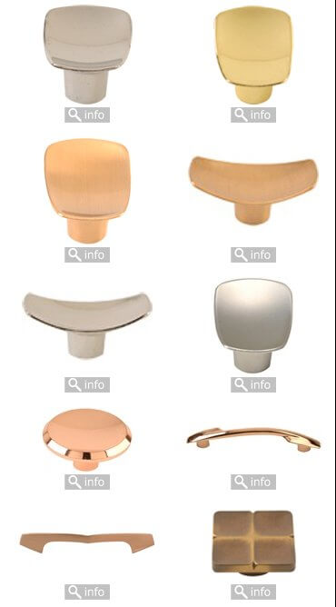 Retro coppertone cabinet knobs from LA Hardware