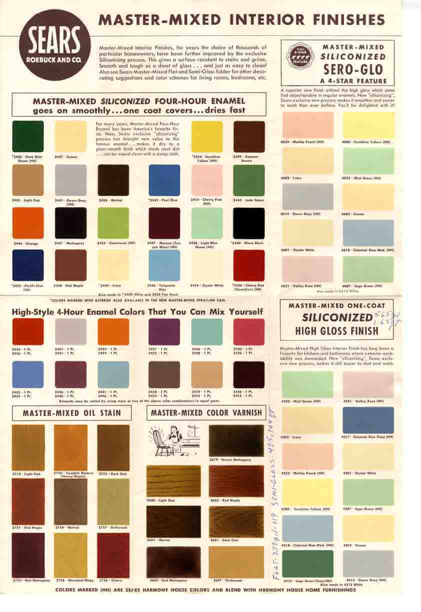 1950s sears colors