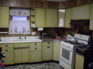 These Vintage Sears U2014 Harvest Gold U2014 Steel Kitchen Cabinets Now Are On The  Forum.