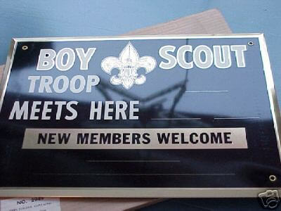 vintage retro boy scouts sign