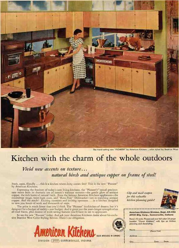 Avco American Quot Pioneer Quot Kitchen Brand Coppertone And Wood