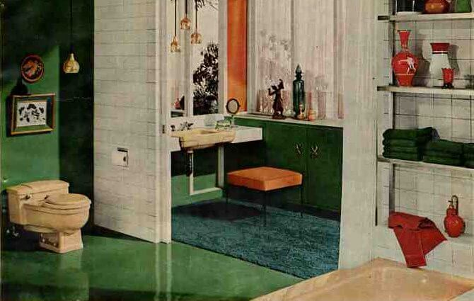50s bathroom, 1956 Universal-Rundle