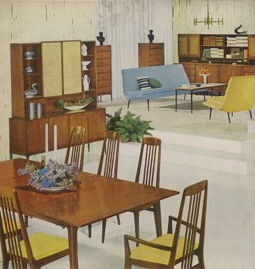 Retro Dining Room Furniture   1959 Heywood Wakefield Danish Modern Contessa  Line   Retro Renovation
