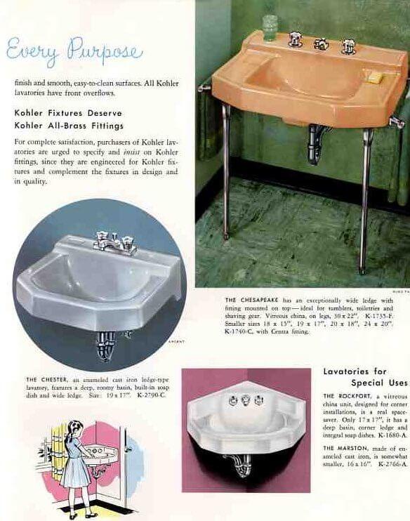 1959 kohler sinks
