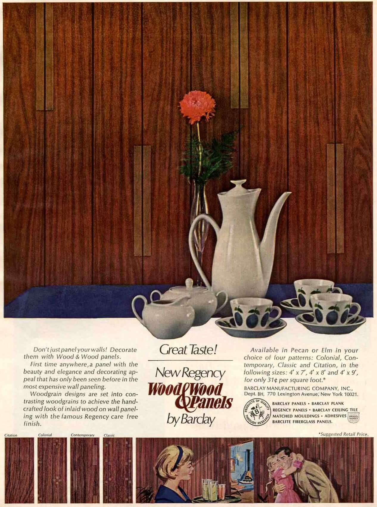 vintage wood paneling ad