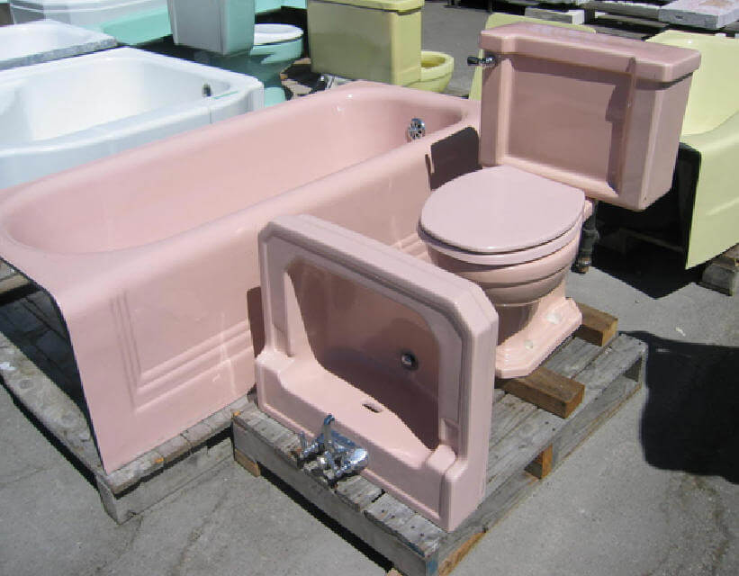 Pink Tubs Pink Sinks Pink Toilets Pink Tile Save The