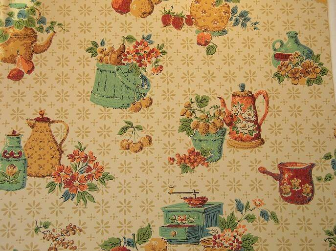 50s vintage wallpaper for your retro kitchen