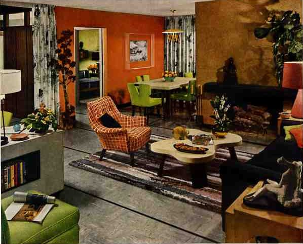 50s design 1952 living dining room with great details for Home decor 50s