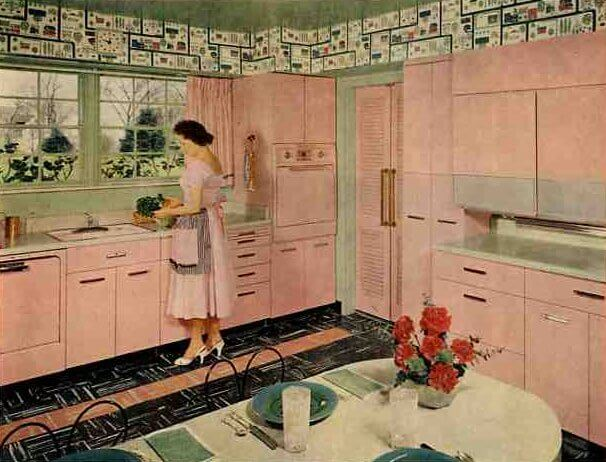61 Mamie Pink Kitchens Day 3 With These Midcentury