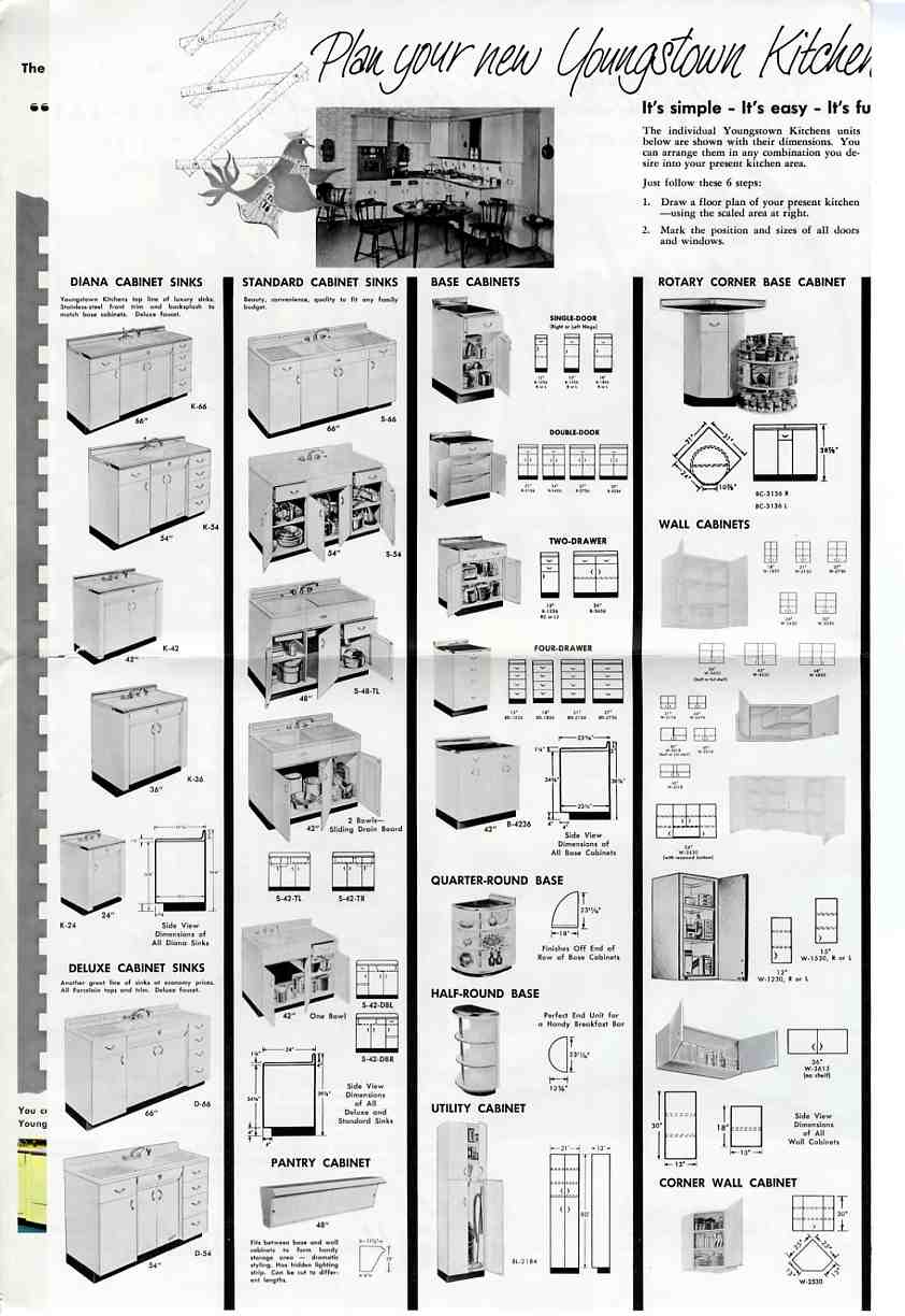 Youngstown kitchen 1957 marketing material and a for Kitchen cabinets youngstown ohio
