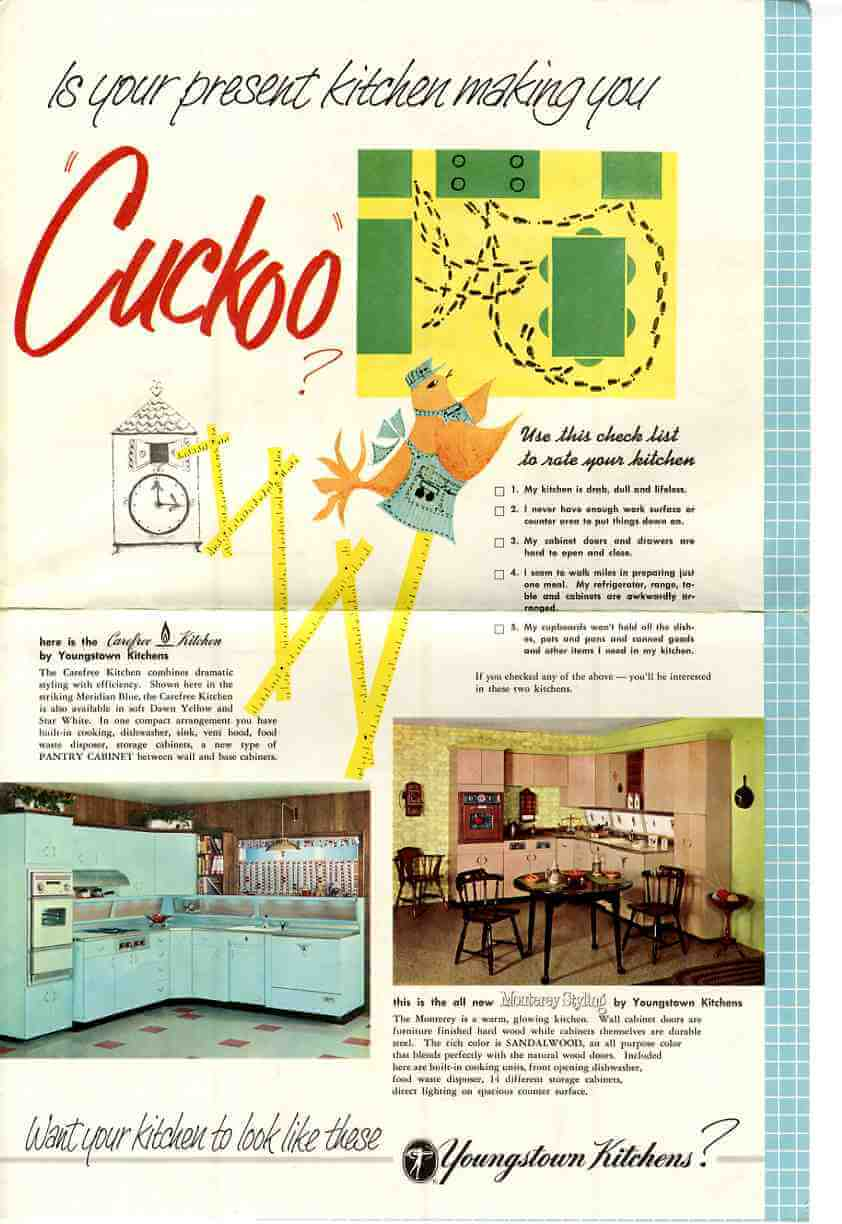 Youngstown Kitchen - 1957 marketing material and a priceless