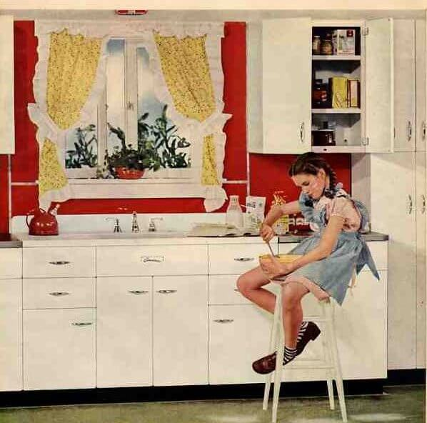 A Cheery 1945 Kitchen To Mark Month S End Retro Renovation