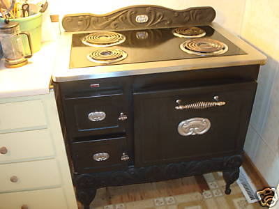 Vintage Style Electric Stove Photos
