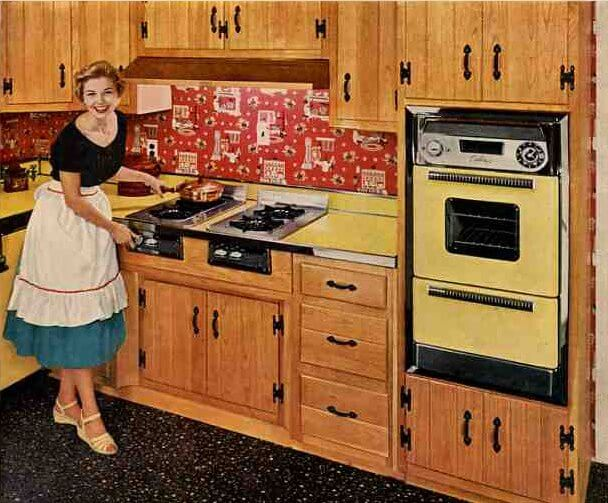 50s Great Wood Cabinets With Caloric Appliances415