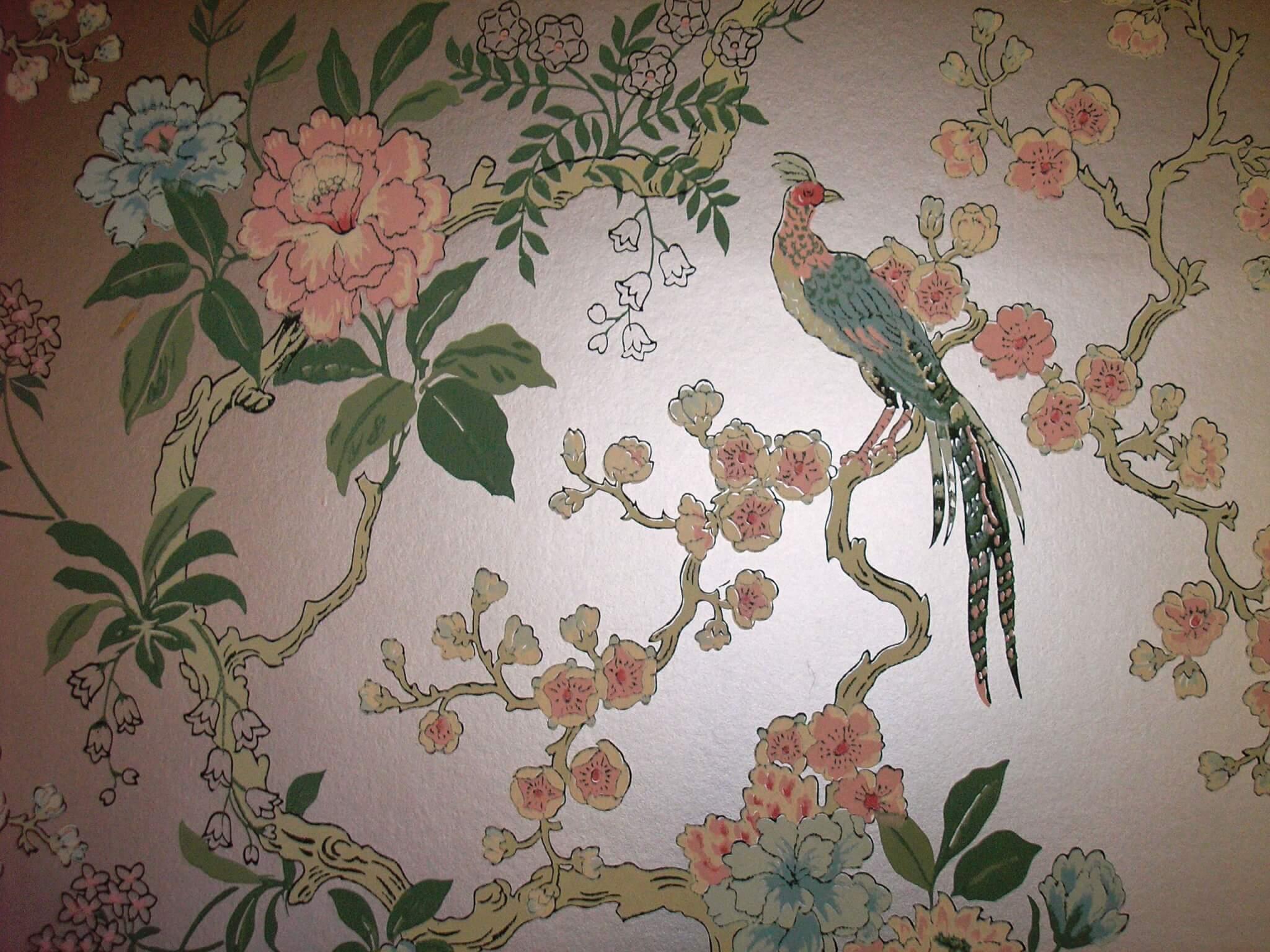 dining room pheasant vintage wallpaper Retro Renovation : a5 from retrorenovation.com size 2560 x 1920 jpeg 870kB