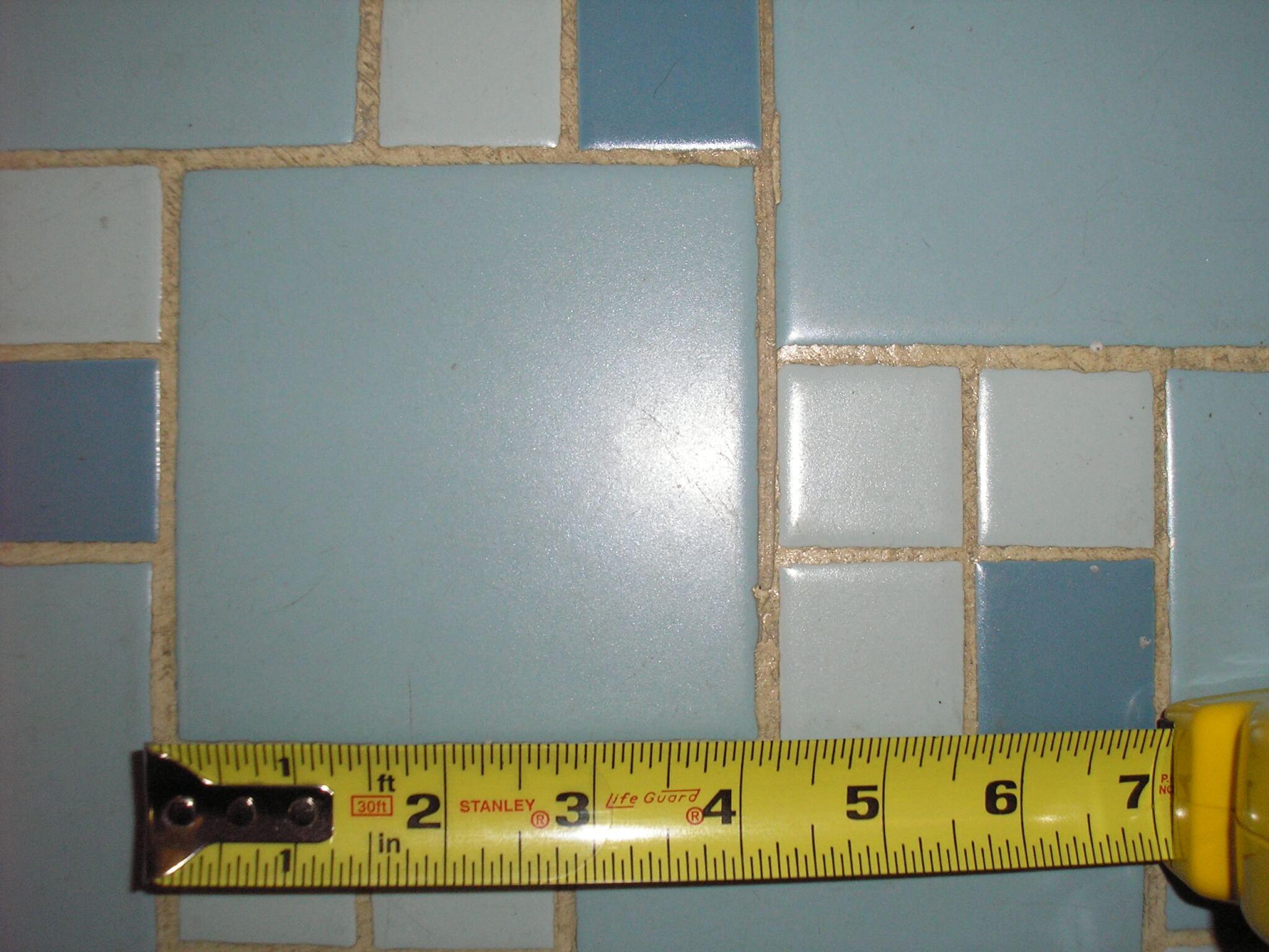 Replicating Alice\'s blue 50s bathroom tile floor - Retro Renovation