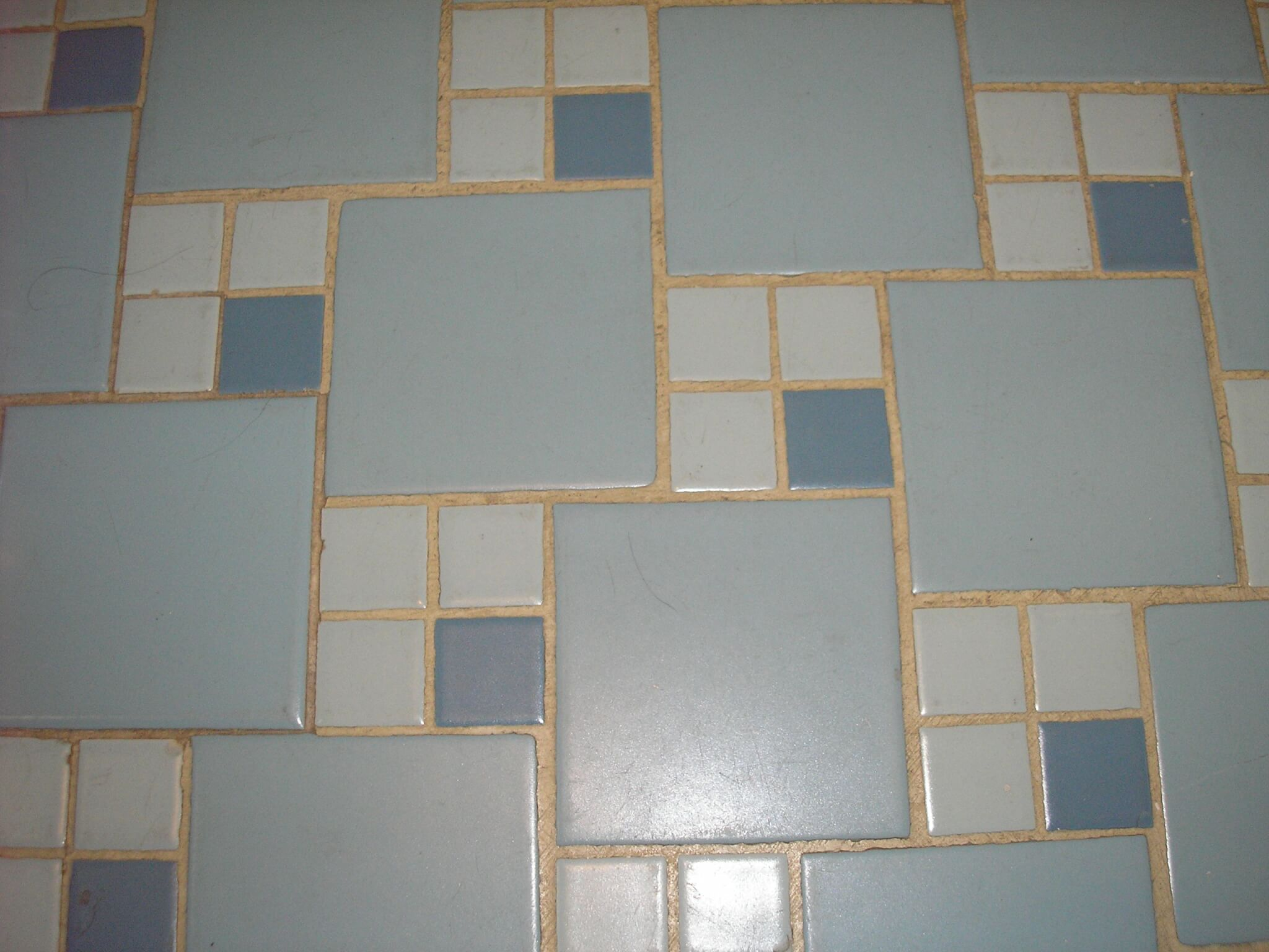mid century bathroom floor tile mosaic design