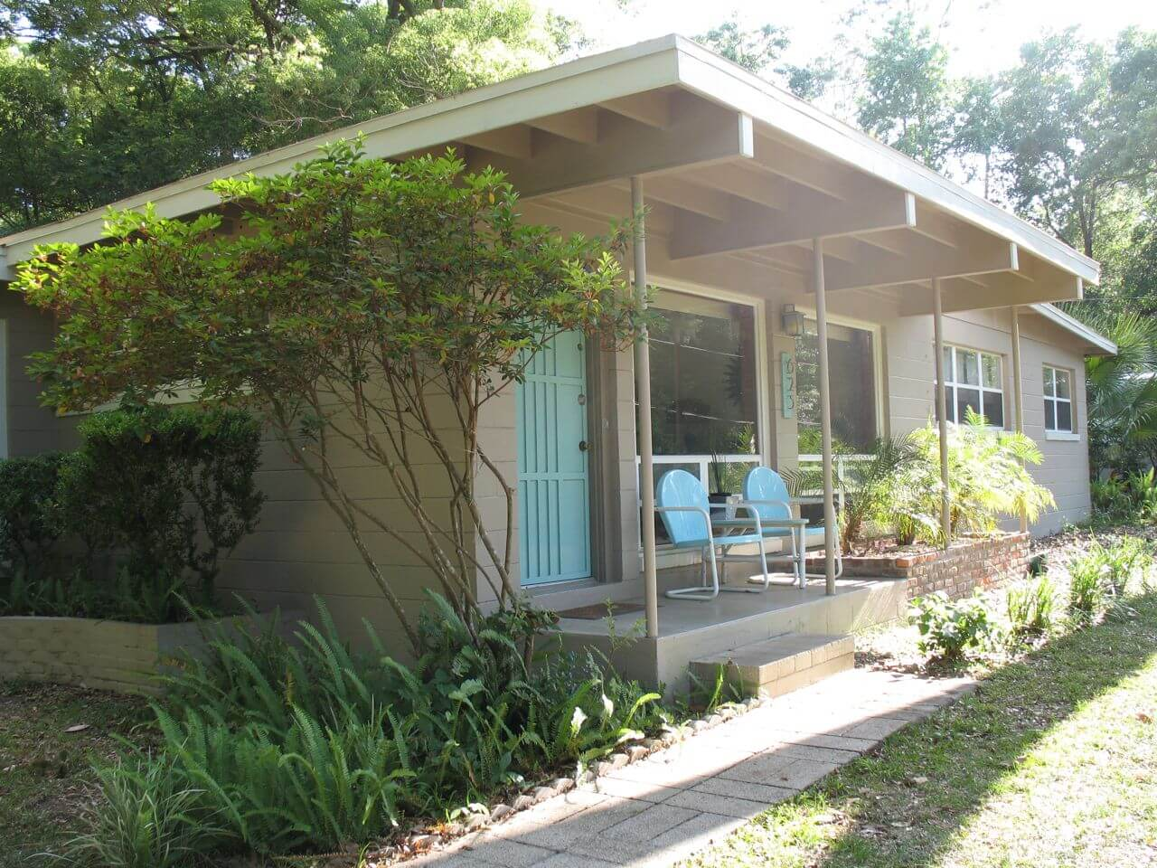 I live in gainesville florida there are several mid century modern houses here the street i live on was developed in the early to mid fifties mainly by