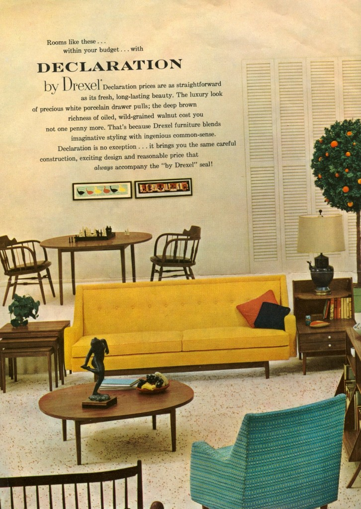drexel declaration living room