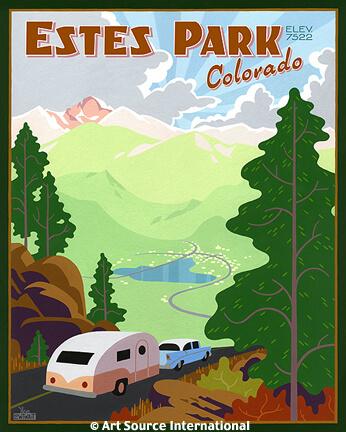 estes park travel poster