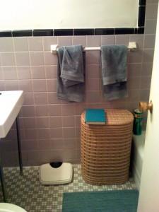lavendar bathroom tile