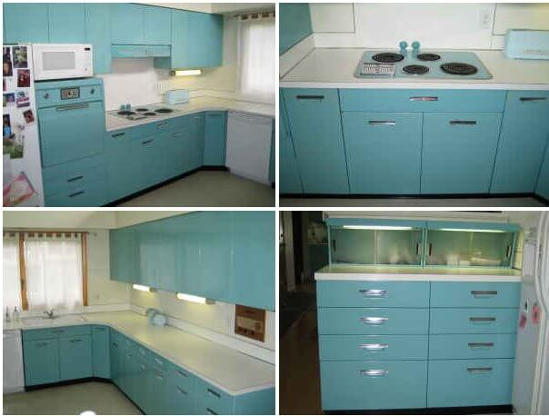 Steel kitchens archives retro renovation for Beauty queen metal kitchen cabinets
