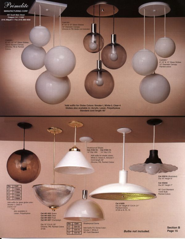 Retro globe lights from Primelight