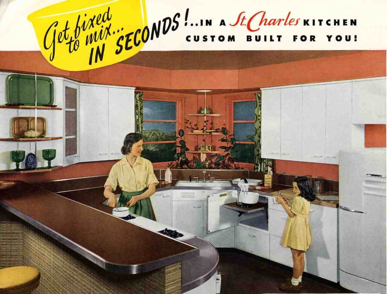 1950 Kitchen Cabinets steel kitchen cabinets - history, design and faq - retro renovation