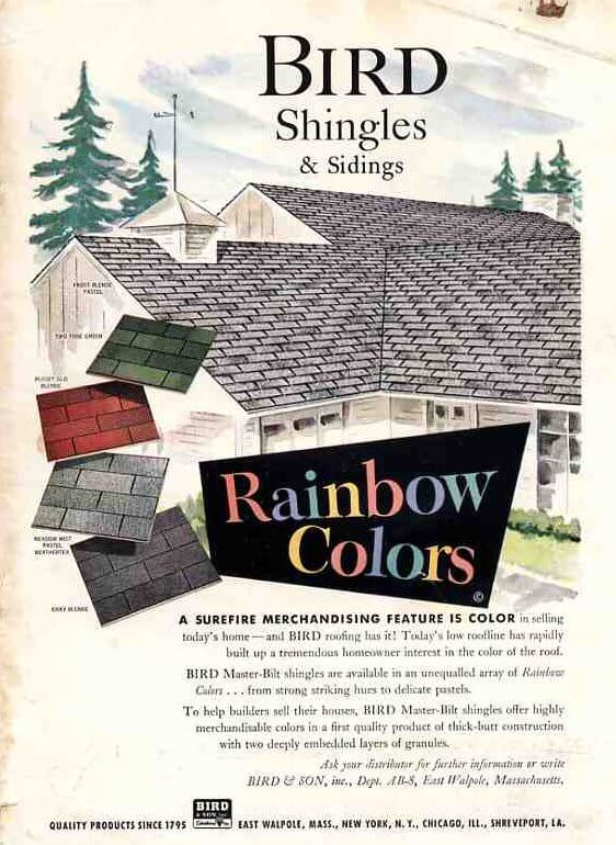roofing for a mid century house