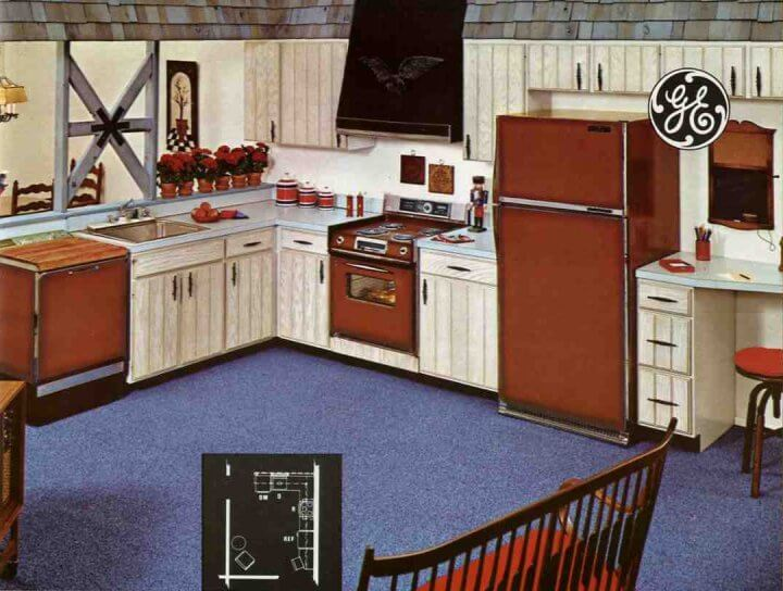 Steel kitchen cabinets history design and faq retro for 60s kitchen ideas