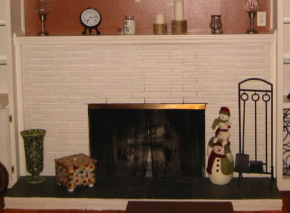 Was my 50s fireplace originally painted - or unpainted? Spokane ...