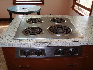 1942 Vintage St Charles Cabinets With Cool Glass Block