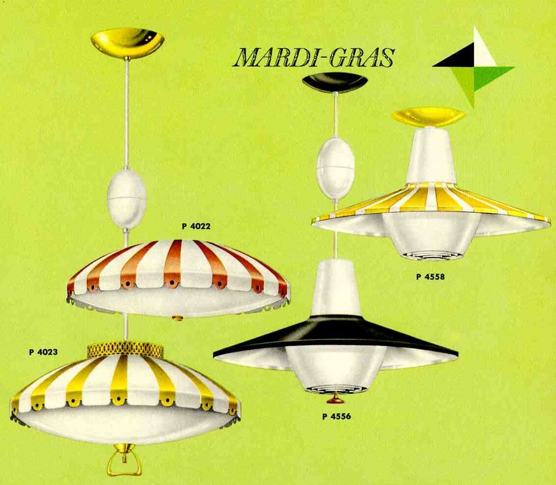 vintage retractable lights