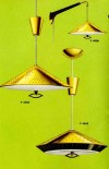 Great retro pull down lights for your kitchen, from Progress vintage 1961