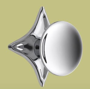 atomic cabinet pull knob with star backplate