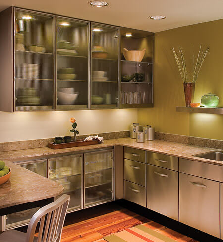 Beautiful Fast Forward 45 Years To Today, And Steel Kitchen Cabinets Are Making A  Comeback.