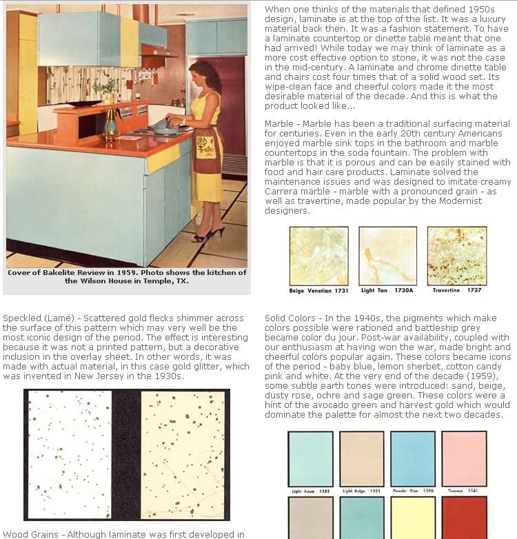 history of kitchen laminates