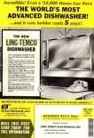 1961 ling tempco small recessed dish washer ad