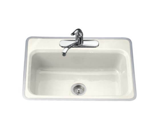 Retro kitchen sinks from Kohler cast iron metal framed